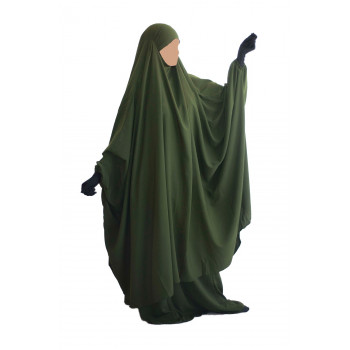 Big Jilbab 2 Pièces Jupe - Kaki - Jilbeb Umm Hafsa