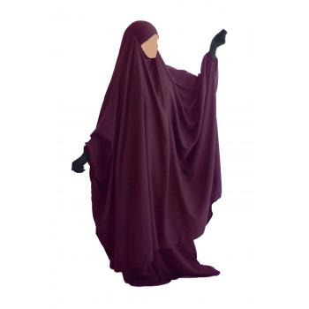 Big Jilbab 2 Pièces Jupe - Prune - Jilbeb Umm Hafsa