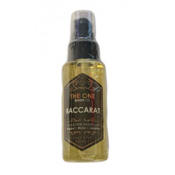 Barber Oil - Baccarat - Huiles 100% Naturelles - Argan, Jojoba, Ricin - The One - 50 ml