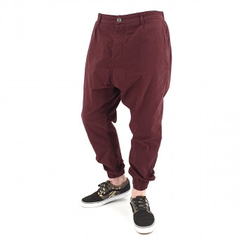 Saroual Chino Tissu Léger - Pantalon Ville Strech Bordeaux - Usual Fit - DC Jeans