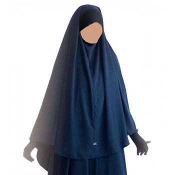 Hijab / Khimar Maryam Bandeau Lycra - Bleu - Umm Hafsa
