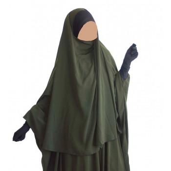 Hijab / Khimar Maryam Bandeau Lycra - Kaki - Umm Hafsa