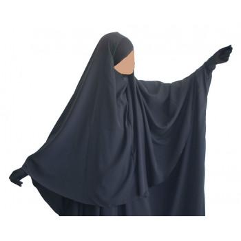 Hijab / Khimar Maryam Bandeau Lycra - Gris - Umm Hafsa