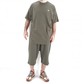 Ensemble Hem Kaki : Tshirt Oversize + Saroual - Manche Courte - DC Jeans