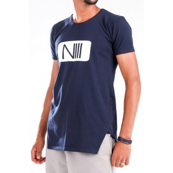 Tshirt NIII Coton - Bleu - T-Shirt Oversize - Na3im