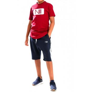 Ensemble Kids Harvard - Noir et Indigo - T-Shirt Oversize - Saroual Djazairi - Na3im