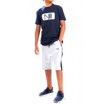 Ensemble Kids Harvard - Bleu et Gris - T-Shirt Oversize - Saroual Djazairi - Na3im