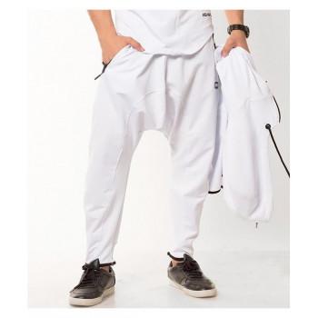 Sarouel jogging blanc Qaba'il : Legend Neo