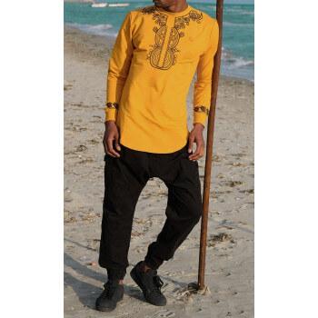 Sweat Afro Up Moutarde Qaba'il : Etniz Africaine