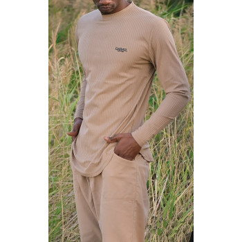 Sweat Manche Longue Beige Qaba'il : Level