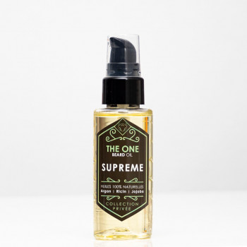 Barber Oil - Suprème - Huiles 100% Naturelles - Argan, Jojoba, Ricin - The One - 50 ml
