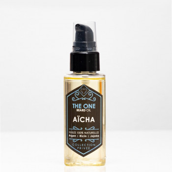Barber Oil - Aïcha - Huiles 100% Naturelles - Argan, Jojoba, Ricin - The One - 50 ml