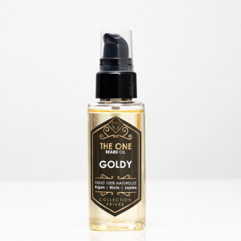 Barber Oil - GOLDY - Huiles 100% Naturelles - Argan, Jojoba, Ricin - The One - 50 ml - 4761