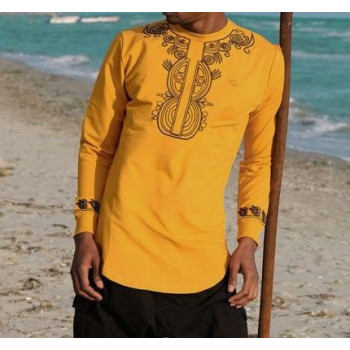 Sweat Afro Up Moutarde Qaba'il : Etniz Africaine