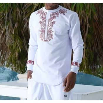 Sweat Afro Up Blanc Qaba'il : Etniz Africaine