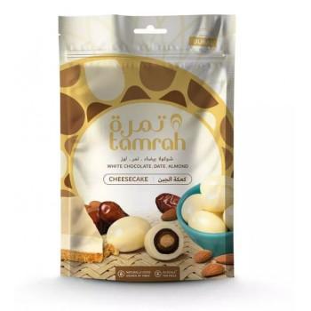 Datte enrobé de Chocolat Blanc et Cheesecake avec une Amande - Datte Tamrah - 80gr
