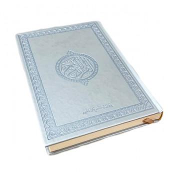 Le Saint Coran Arabe - Argenté - Grand Format - 17.50 X 24.50 cm