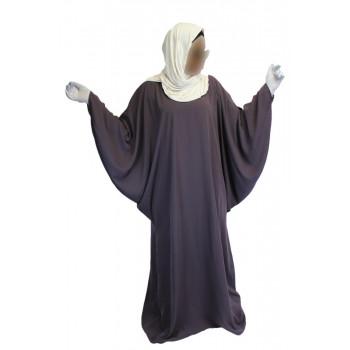 Robe Lila El Bassira - Arbaya Papillon - Modèle F WP - Tissus Tissus Wool Peach n° 14 - Couleur Unis