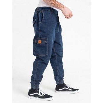 Saroual Coupe Pantalon Jeans Cargo Bleu Foncé - DC Jeans