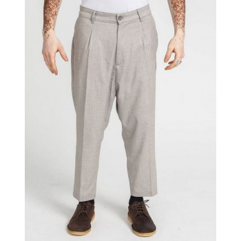 Pantalon Pince Wool Beige Chiné - DC Jeans