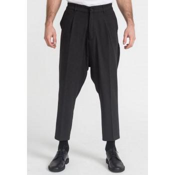 Pantalon Pince Wool Noir Chiné - DC Jeans