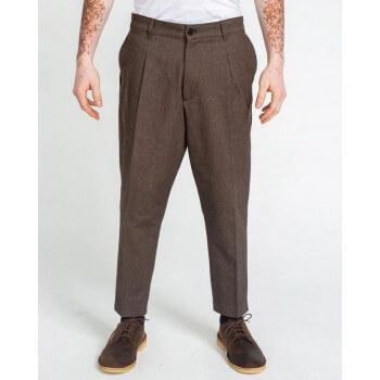 Saroual Coupe Pantalon Pince Wool Marron Chiné - DC Jeans
