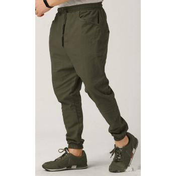 Sarouel Coton Stretch (Taille Petit) - Kaki - Qaba'il : Coupe Djazairi - Pants Léger