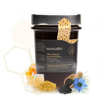 Miel de Montagne à la Nigelle et Gelée Royale - Saouda 250 gr
