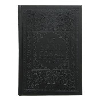 Le Saint Coran - Arabe / Français / Phonétique - Edition De Luxe - Couverture En Daim Couleur Noir