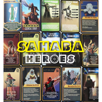 Pack Collector Sahaba Heroes - 96 Cartes Sans Album - 24 Pochettes de 4 Cartes à Collectionner - Wibi Trading LLC