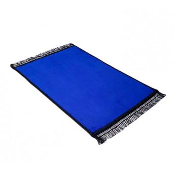Grand Tapis de Prière - Bleu Roi - Uni Sans Motif - Molletonné, Épais et Très Doux - Confortable et Anti-Dérapant