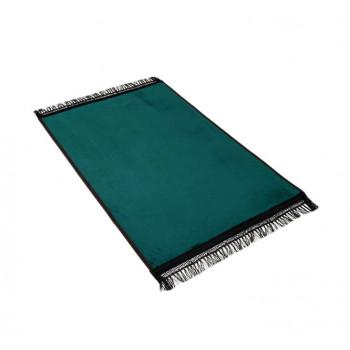 Grand Tapis de Prière - Vert Bouteille - Uni Sans Motif - Molletonné, Épais et Très Doux - Confortable et Anti-Dérapant