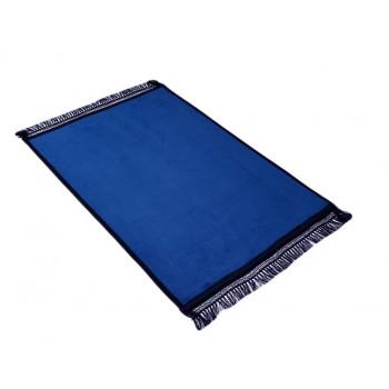 Grand Tapis de Prière - Bleu Pétrol - Uni Sans Motif - Molletonné, Épais et Très Doux - Confortable et Anti-Dérapant