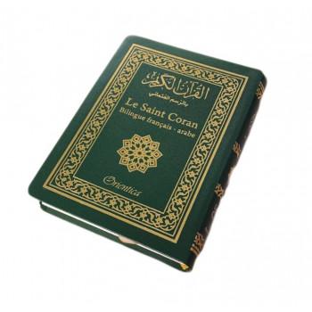 Le Saint Coran Arabe - Français De Poche Vert 10x14cm - Edition Orientica