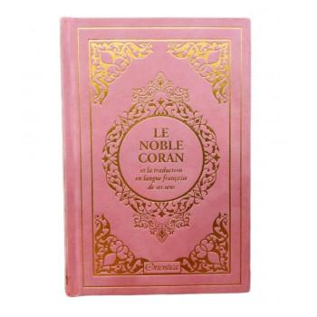 Le Noble Coran Rose Clair Doré - Edition de Luxe Couverture Daim - Index des Sourates - Français-Arabe - Orientica