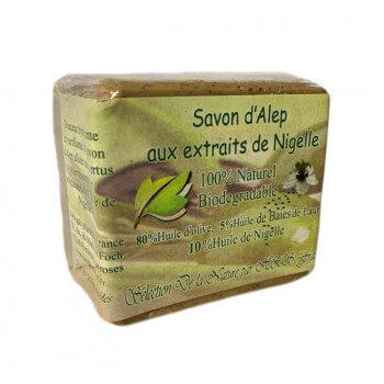Savon d'Alep - Aux Extraits De Nigelle - 100% Naturel - Biodégradable - 200gr
