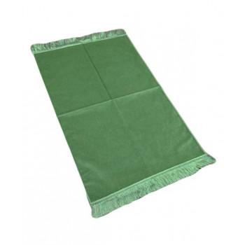 Tapis de Prière de Luxe - Couleur Vert Pistache Unis - Adulte - 73 x 110 cm