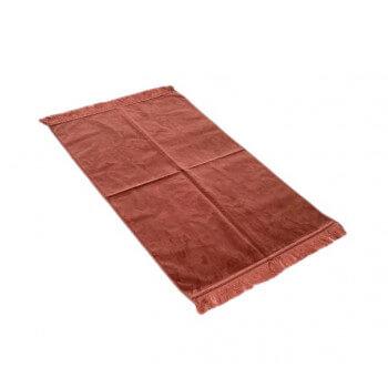 Tapis de Prière de Luxe - Couleur Saumon Unis - Adulte - 73 x 110 cm