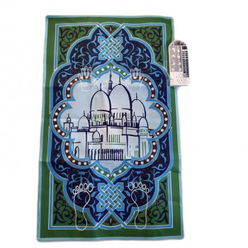 Tapis de Prière Interactif - 7 à 12 ans - Blue & Green : My Sajada