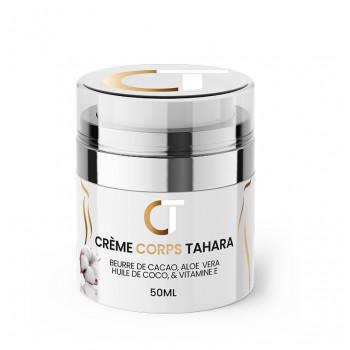 Crème Corps Tahara - Beurre de Cacao, Aloé Vera, Huile de Coco et Vitamine E - Pot 50g - Crème Tahara