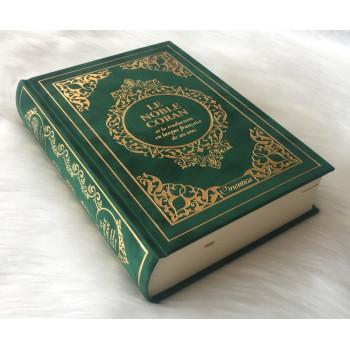 Le Noble Coran Vert Doré - Edition de Luxe Couverture Daim - Index des Sourates - Français-Arabe - Orientica