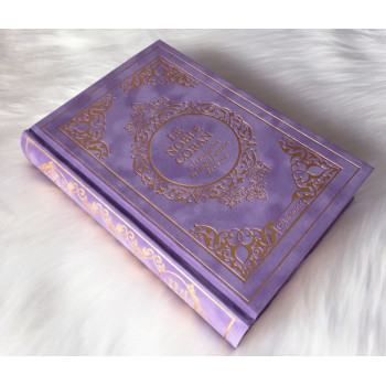 Le Noble Coran Mauve Doré - Edition de Luxe Couverture Daim - Index des Sourates - Français-Arabe - Orientica