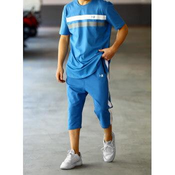 Ensemble Harvard - Bleu - T-Shirt Oversize - Saroual Djazairi N3 - Na3im - NIII