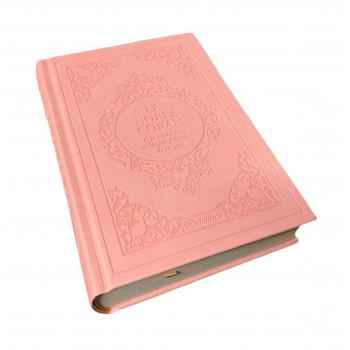 Le Noble Coran Rose Pâle - Edition de Luxe Couverture Daim - Index des Sourates - Français-Arabe - Orientica