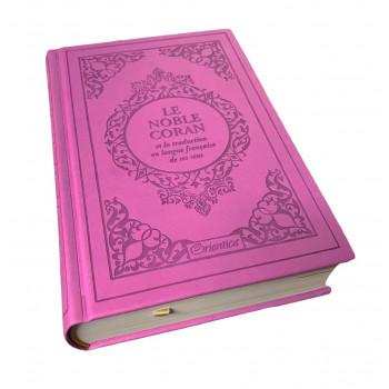 Le Noble Coran Violet - Edition de Luxe Couverture Daim - Index des Sourates - Français-Arabe - Orientica