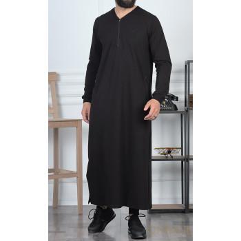 Qamis Long - Noir - Qaba'il : Jersey