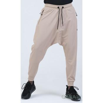 Sarouel Jogging - Tissu Léger - Coupe Semi Droite - Beige Qaba'il : Sarouel Léger CSD