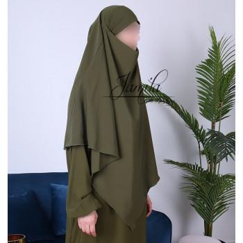 Abaya Papillon - Camel Foncé - Microfibre Léger - Jamila