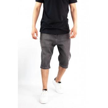 Saroual Bermuda - Short Jeans - Coupe Djazairi - Noir - Timssan
