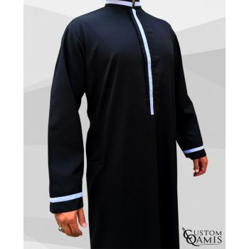 custom qamis trend noir